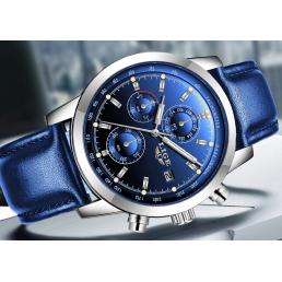 2020 Мъжки часовник LIge в син цвят