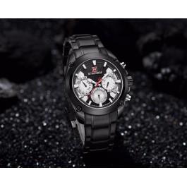 Мъжки черен часовник Naviforce