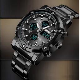 .Мъжки водоустойчив часовник с черна верижка