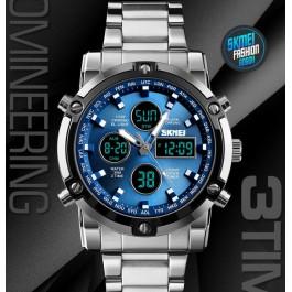 Мъжки водоустойчив часовник с черна верижка