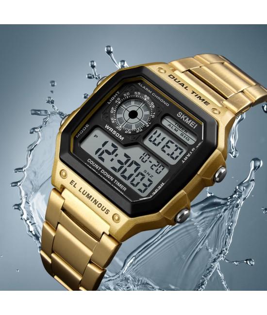 Стилен квадратен часовник Skmei