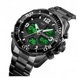 Елегантен мъжки часовник с двоен механизъм