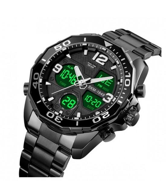 .Елегантен мъжки часовник с двоен механизъм