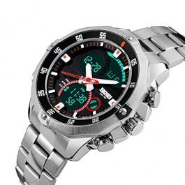 Елегантен часовник с дигитален и аналогов дисплей Skmei