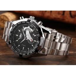 Мъжки Механичен Часовник WINNER Бял, Черен циферблат